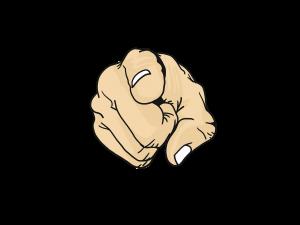 point, finger, cartoon